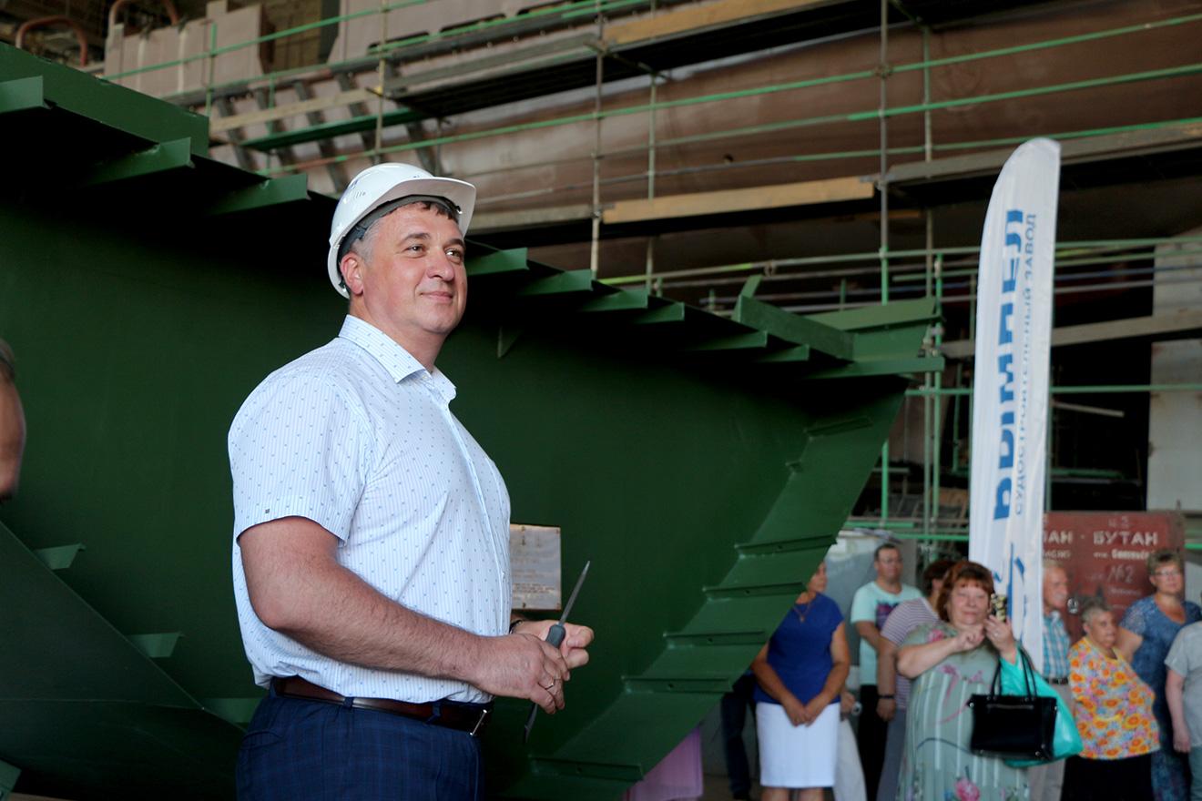 15 июля 2021г. на ССЗ «Вымпел» состоялась закладка катера специального назначения проекта 21980 «Грачонок»
